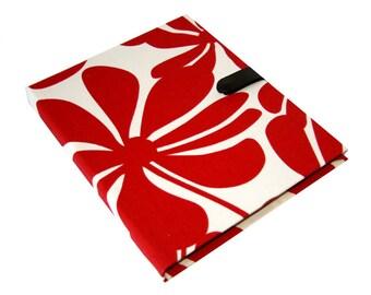 iPad 5  2 3 or 4 Hard Case, iPad Cover, iPad Sleeve, i Pad stand up iPad mini hard case Red bold fabric Camera Hole option