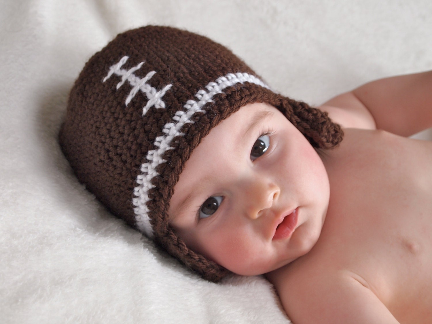 Crochet pattern baby football hat crochet baby hat pattern this is a digital file bankloansurffo Image collections