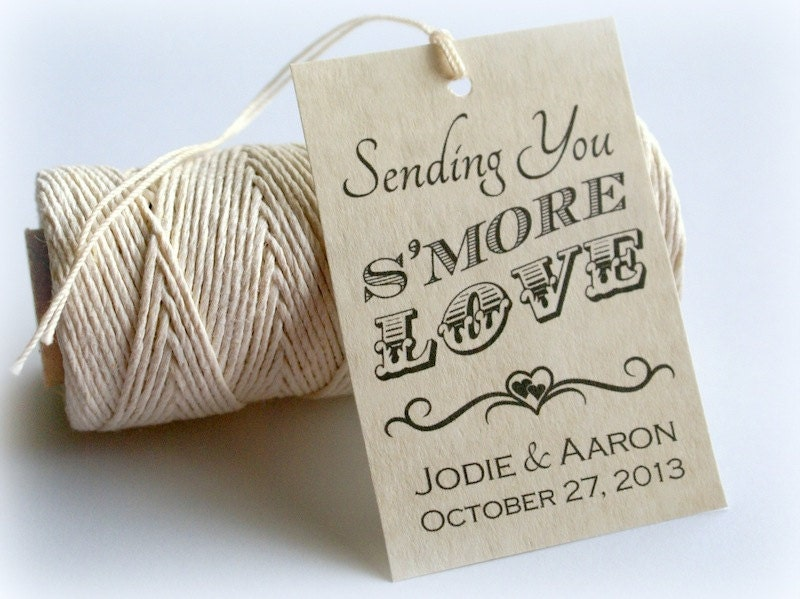Free Printable Wedding Gift Tags: S'more Love Printable Gift Tags DIY Custom Wedding