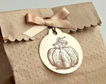 Pumpkin Tags - Thanksgiving Tags - Autumn Tags - Halloween Gift Tags