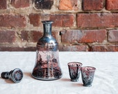 1920's Amethyst Glass Decanter Set