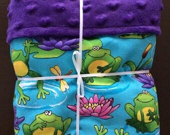 frog baby blanket