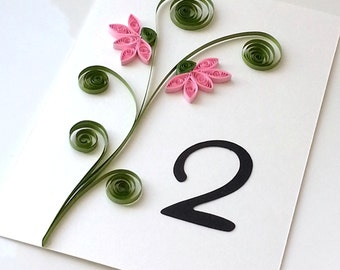 Wedding Table Number Cards - Custom order available