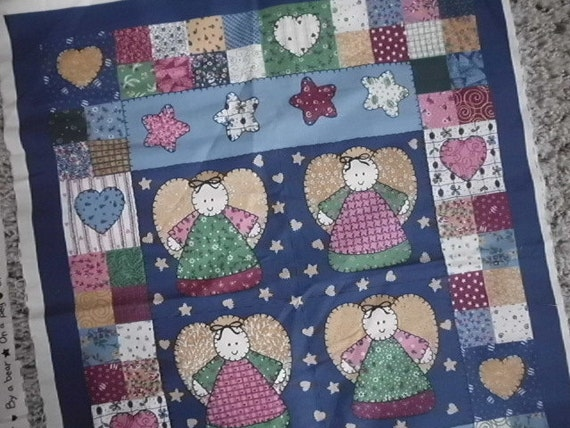 Angel Fabric Panel Make A Little Quilt Doll Blanket Diy Sewing