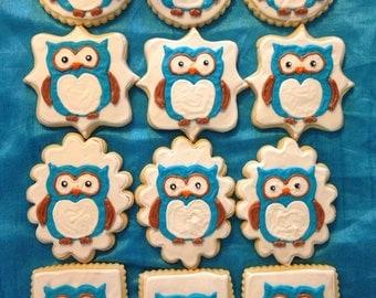 1 Dozen owl sugar cookies