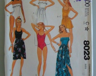 Vintage McCall's Womens Sewing Pattern 8023  size 12-16 Uncut