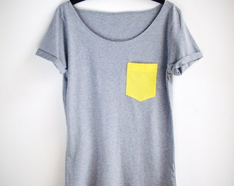 Organic Cotton Yellow Pocket Tunic