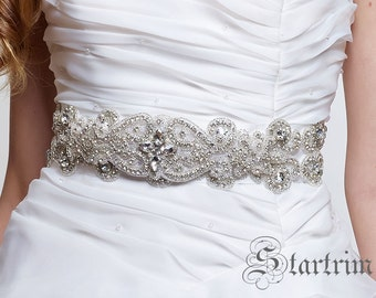 SALE TAYLOR wedding bridal crystal sash