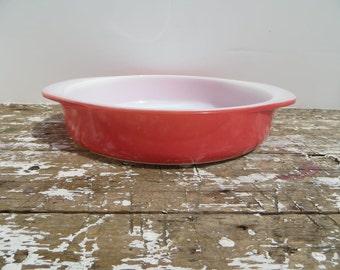 Pink Pyrex Casserole Dish Pie Dish Round Baking Dish