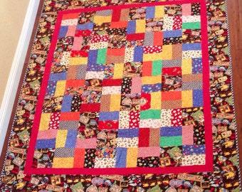 Handmade Mary Englebreit  Friendship  lap quilt