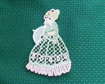 Lace Applique -  Southern Belle or Victorian Lady