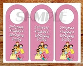 Door Knob Hanger, Door Tag, Party Favor, Personalized