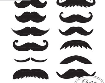 Moustache Clip Art - Set 1  Black moustache, moustache, mustache, stache clipart PNG and JPG