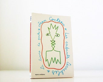 Les enfants terribles by Jean Cocteau - vintage French book, novel, fiction, classic, paperback, cover art by the author, 4x6