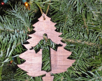 Jesus ornament, Wood Christmas Ornament, Fret work ornament, Scroll Saw Treasure, Handmade Christmas Ornament, Rustic wood ornament