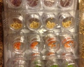 40 jars x Pressed Real Mini dried flowers single shape