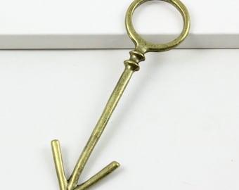 6Pcs Antique Brass Arrow Connector Arrow Charm Arrow Pendant 80x23mm (PND385)