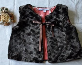 Faux fur Child's Vest Size 2T