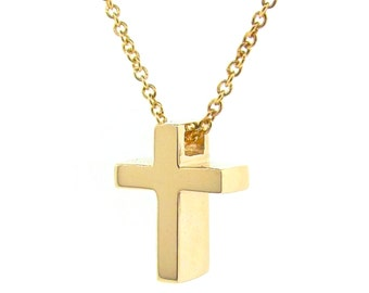 Yellow Gold Baby Cross Pendant