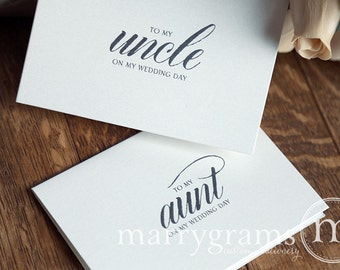 Wedding Gift For Uncle : Wedding Card to Your Aunt and UncleFamily of the Bride or Groom ...