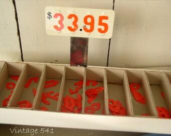 Vintage Pricing Set, Store Price Numbers, Box of Numbers