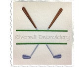 Split Golf Clubs Machine Embroidery Design - 4 Sizes