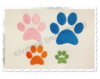 Small Paw Print Machine Embroidery Design - 4 Sizes