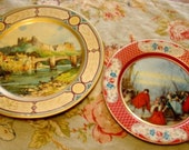 Lovely Set of 2 European Tin Plates Trays