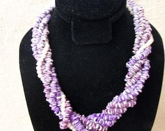 Purple Stringed Stone Choker