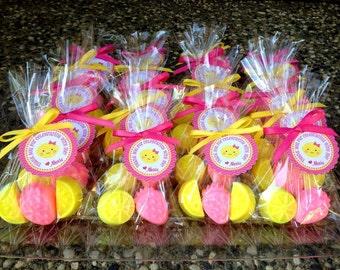 20 LEMONADE SOAPS {10 Favors} - Strawberry Lemonade Party, Strawberry Soap Favors, Lemon Soaps, Soap favors, 1st Birthday, Wedding, Spring