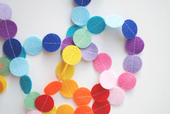 Felt Garland - Rainbow Circles
