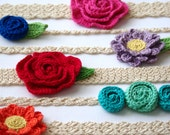 CROCHET PATTERN #216 - 6 headbands and 3 flower patterns included - Newborn to Adult sizes included - headband pack- Instant Download