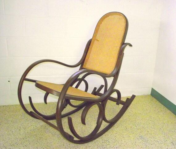 Like this item? - Authentic Luigi Crassevig Rocking Chair Bentwood Thonet Style