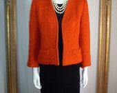 Vintage 1970's Andre Laug for Audrey Red Jacket  - Size 12