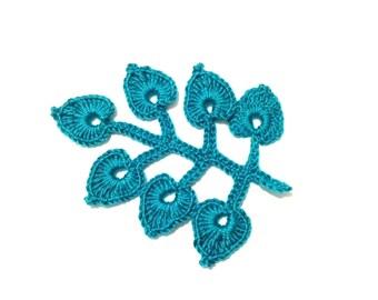 Crochet Leaves tutorial pattern PDF