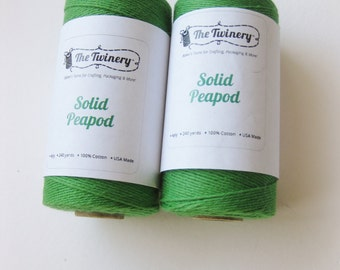 Full Spool SOLID PEAPOD - Green Bakers Twine (240 yards)