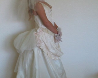 Flower Girl  Dress Silk Victorian Wedding