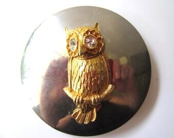 Adorable Gold Owl Belt Buckle