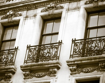 Industrial Vintage Black and White New York City Windows Art Print Photography Architecture Home Decor