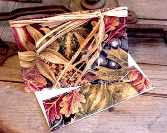 Thanksgiving Greeting Card, Handmade Fabric Stationery, Autumn Fall Note Card, Unique Wedding Anniversary Card itsyourcountry
