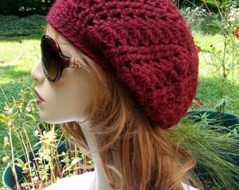 Alpaca Hat Alpaca Hat Womens Alpaca Hats Crochet Alpaca Hats Slouchy Alpaca Hats Garnet Alpaca Hats Womans Alpaca Hats Crochet Free Shipping