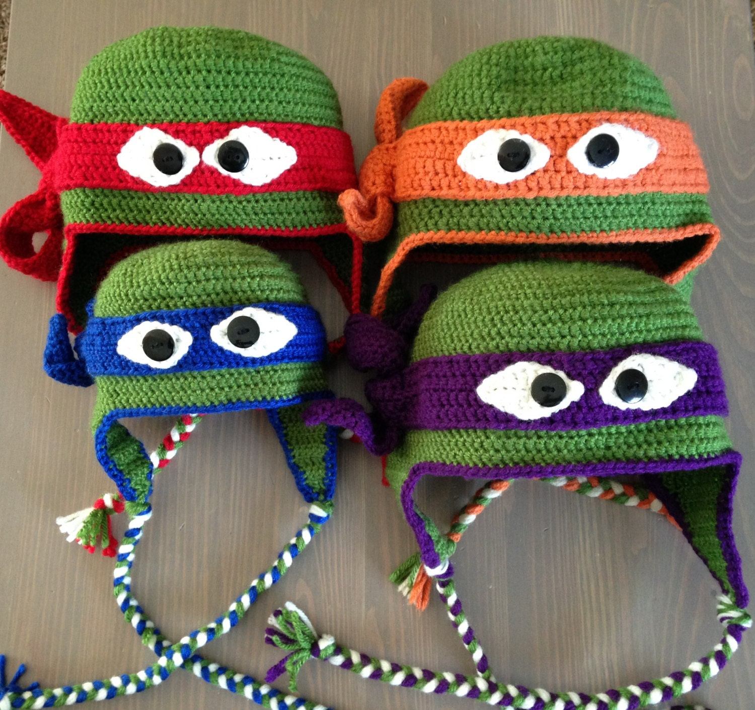 Free Crochet Patterns For Ninja Turtle Hat : Teenage Mutant Ninja Turtles Hat-Adult