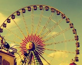 Cross Stitch Pattern - Vintage Ferris Wheel -  PDF - Instant Digital Download - SALE