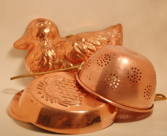 Instant French Kitchen Copper Collection 4 piece brass