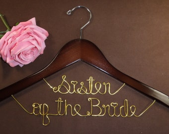 Hanger for Sisters in your wedding, Personalized custom bridal hanger, brides hanger, Bridal Hanger, Wedding hanger, Bridal