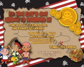 Jake and the Neverland Pirate Invitation