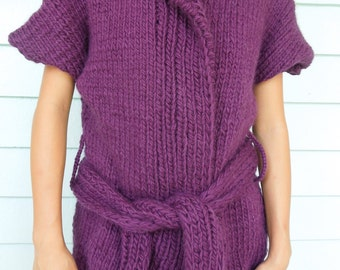 Chunky Womens Sweater is a Rich Shade of Aubergine, just in time for the Autumn Weather