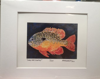 "16x20"" Long Ear Sunfish archival print by Jonathan Marquardt of BadAxeDesign"