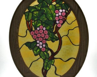 Stained glass panel decorative