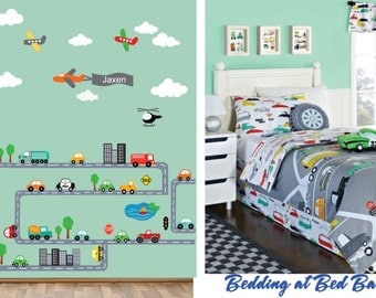 JUMBO Deluxe Transportation Scene Cars Airplanes Roadway REUSABLE Decal